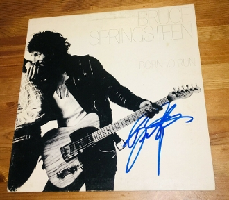 BRUCE SPRINGSTEEN Autograph Signed BORN TO RUN ALBUM NICE!